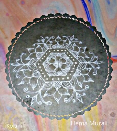 Rangoli: Margazhi day4 13 to 7 dots