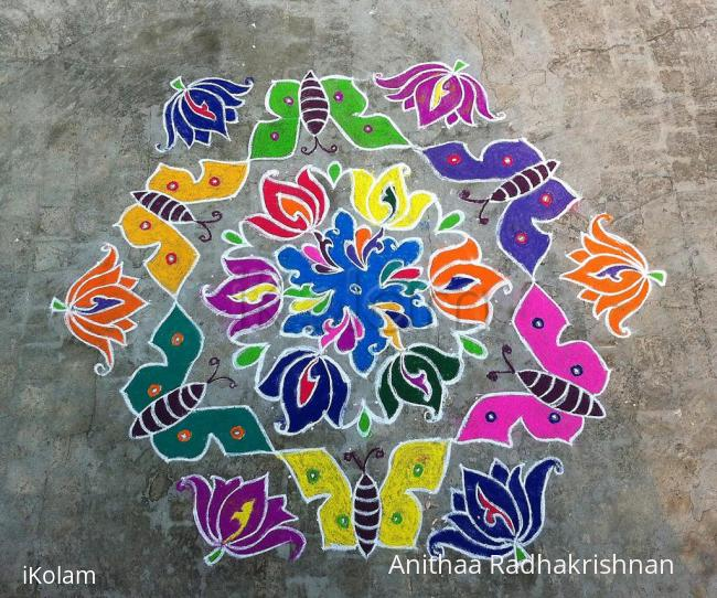 Rangoli: My first Kolam for iKolam :)