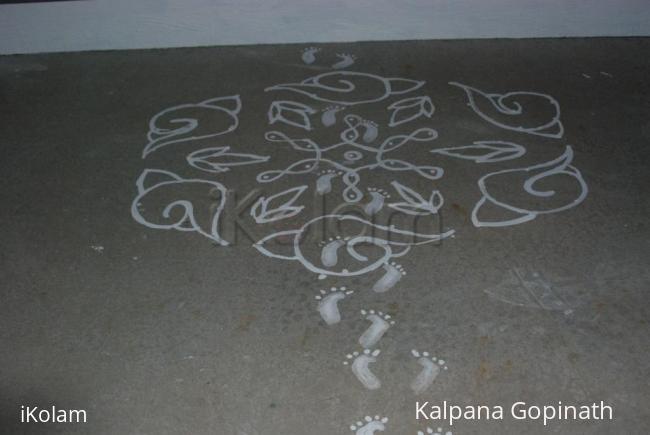 Rangoli: Sanggu Kolam for Krishna Jayanthi