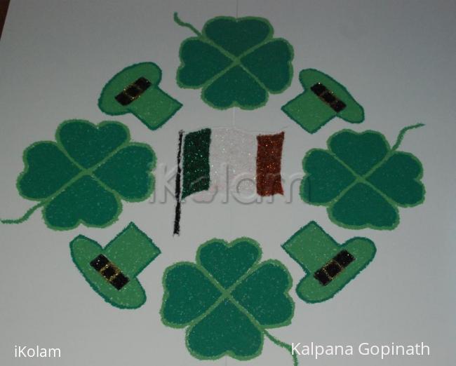 Rangoli: St. Patrick's Day Kolam