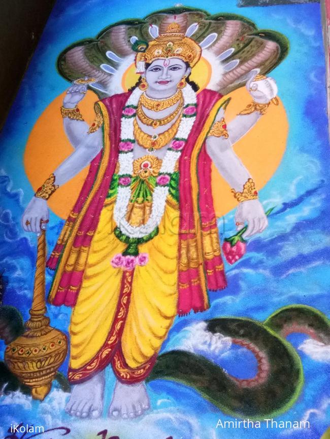 Rangoli: lord narayana