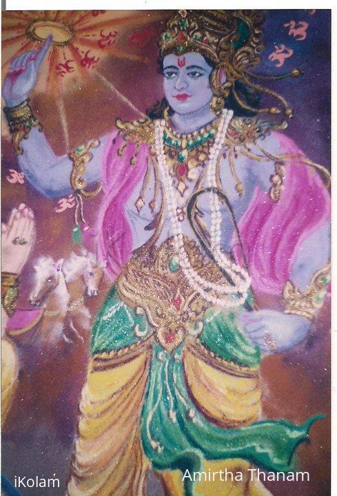 Rangoli: Ram Navami rangoli - Geetha updesh