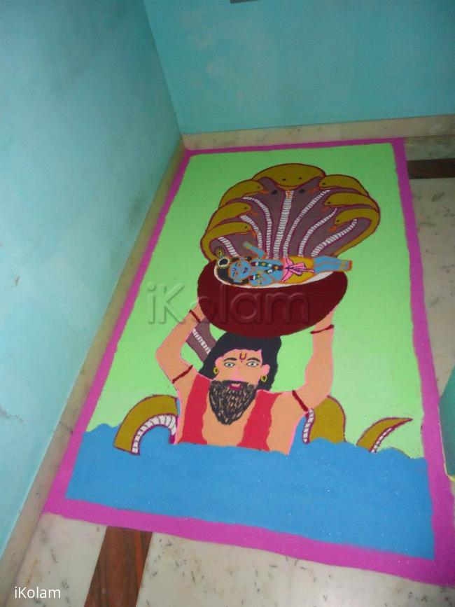 Rangoli: krishna