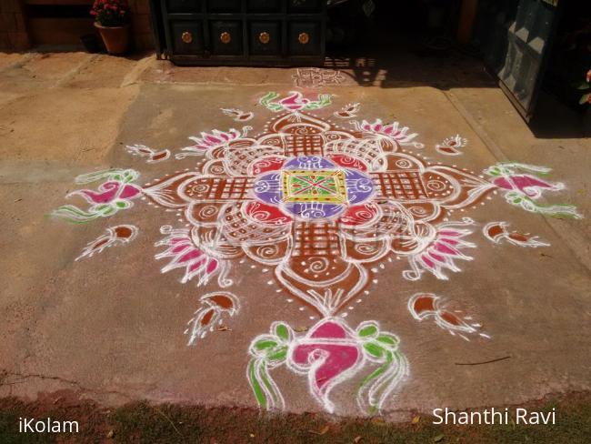 Rangoli: Vaikunta Ekadasi Rangoli