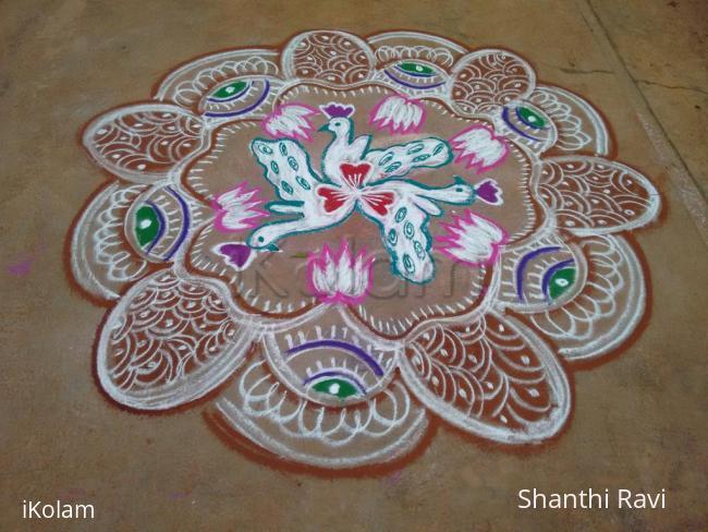 Rangoli: Navarathri Rangoli Day 7 - 2015