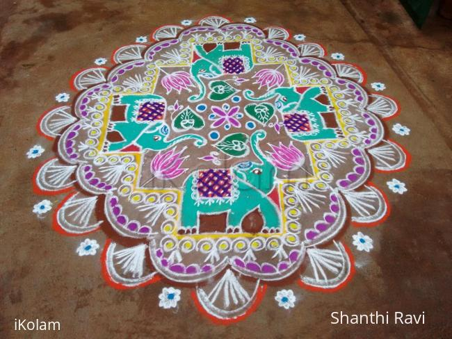 Rangoli: Ganesh Chaturthi Rangoli 2016