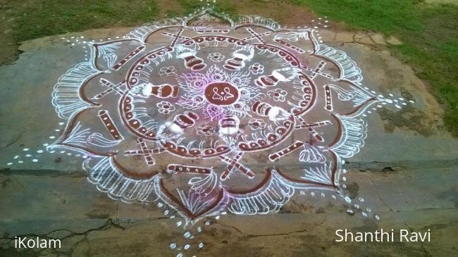 Rangoli: Krishna Janmastami Rangoli