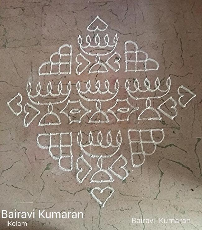 Rangoli: Kaarthigai kolam