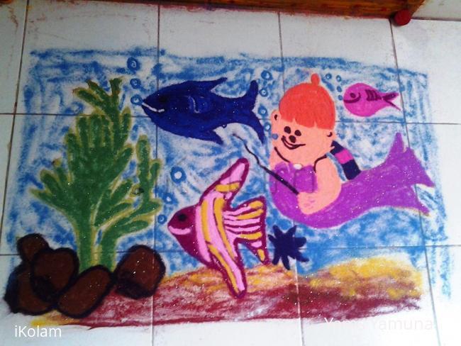 Rangoli: Fishy Fishy.....