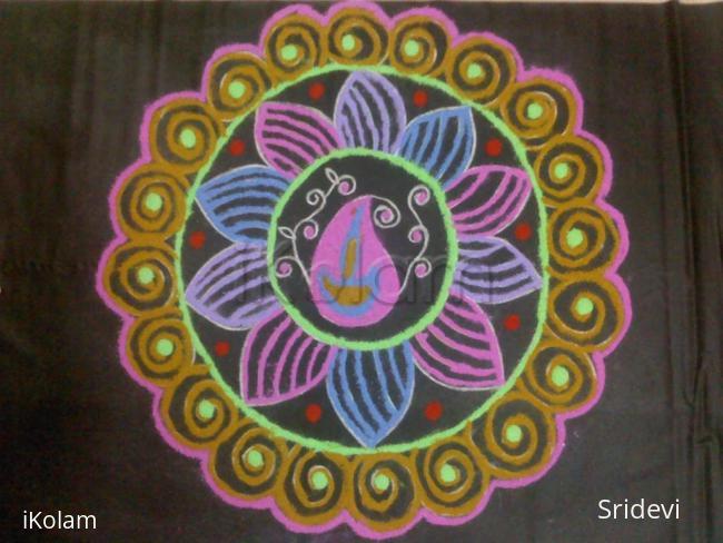Rangoli: Coloured rangoli
