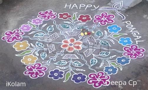 Rangoli: Pongal rangoli -2