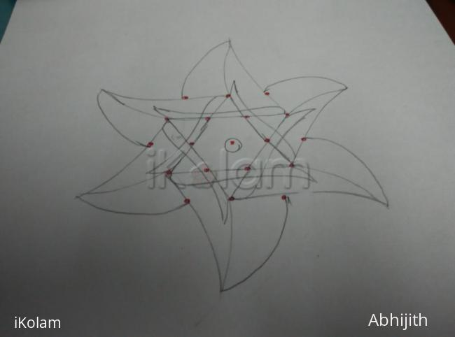 Rangoli: Paper version of star kolam