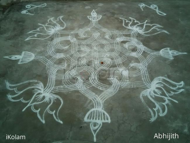 Rangoli: Simple kolam