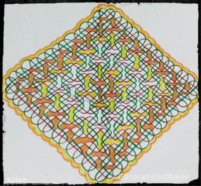 Rangoli: chikku kolam carpet
