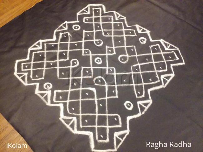 Rangoli: 7X7EASY CHIKKU RANGOLI-40