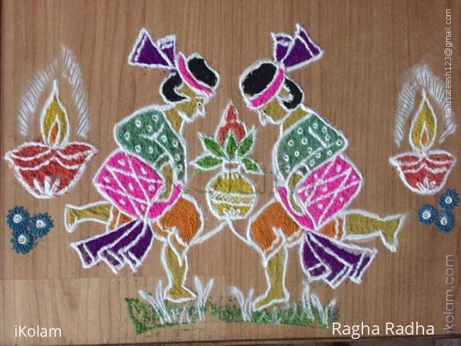 Rangoli: The Floor version of Sailu Rangoli.