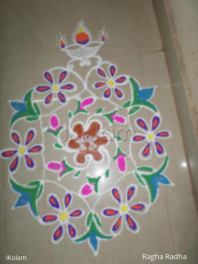 Rangoli: colorful flower
