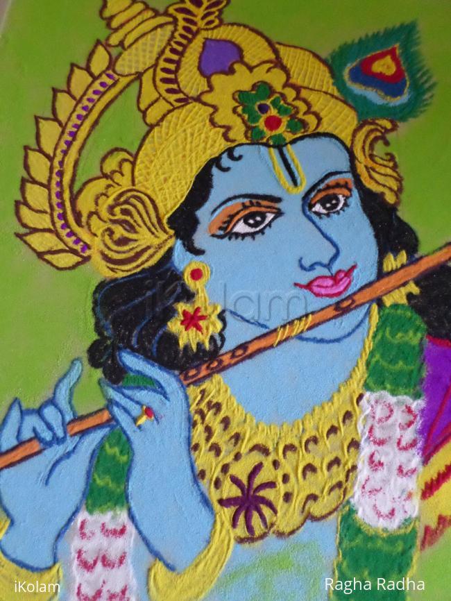 Rangoli: SRI KRISHNAHARI SARVOTHAM