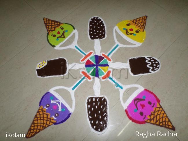 Rangoli:  SUMMER FUN SPECIAL -THREE -Icecream Cloun & Chaco Bar.