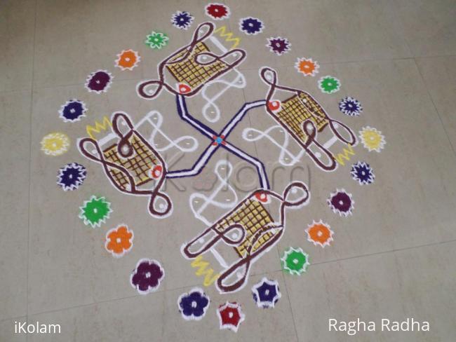 Rangoli: VEGETABLE DESIGNS FROM VEGETABLE CUTTER OF CHIKKU