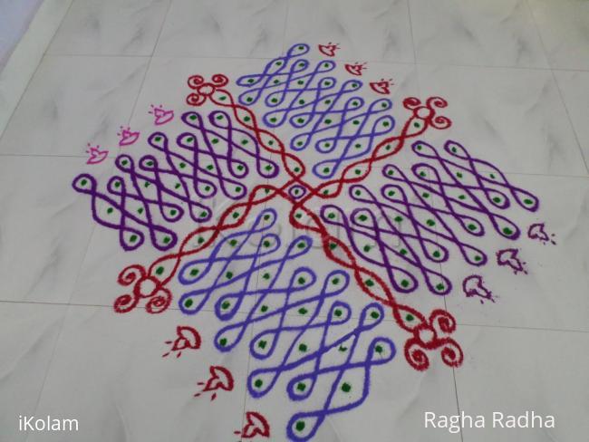 Rangoli: DASHAHARA DAY-9-BLUE SPRING