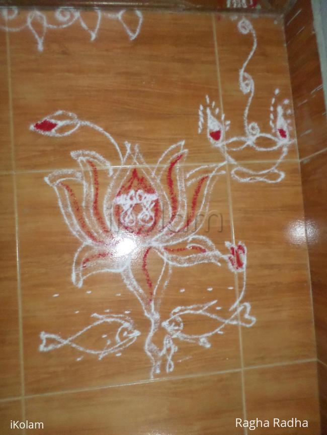 Rangoli: Simple Friday Kolam