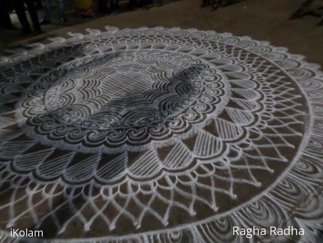 Rangoli: Big Rangoli for Chariot  Procession of  Lord Udupi SriKrishna