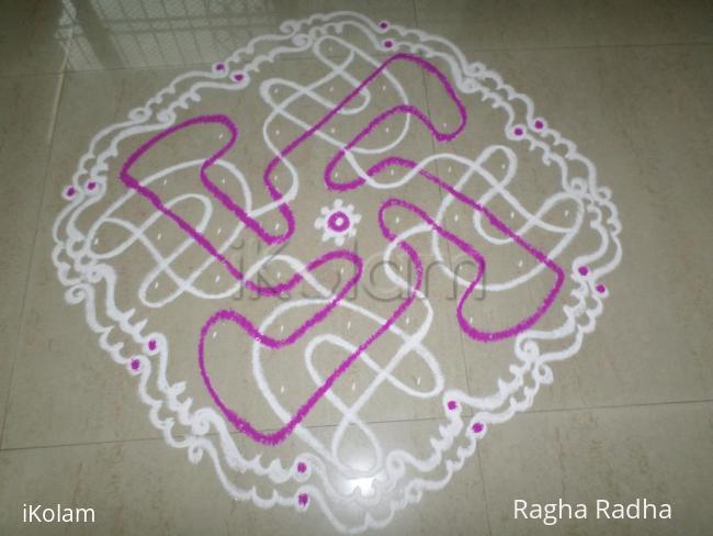 Rangoli: SWASTIK IN CHIKKU