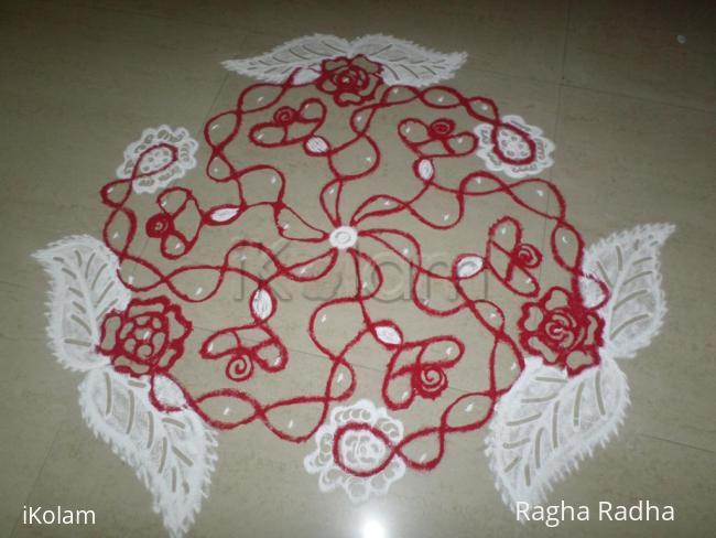 Rangoli: RED ROSES
