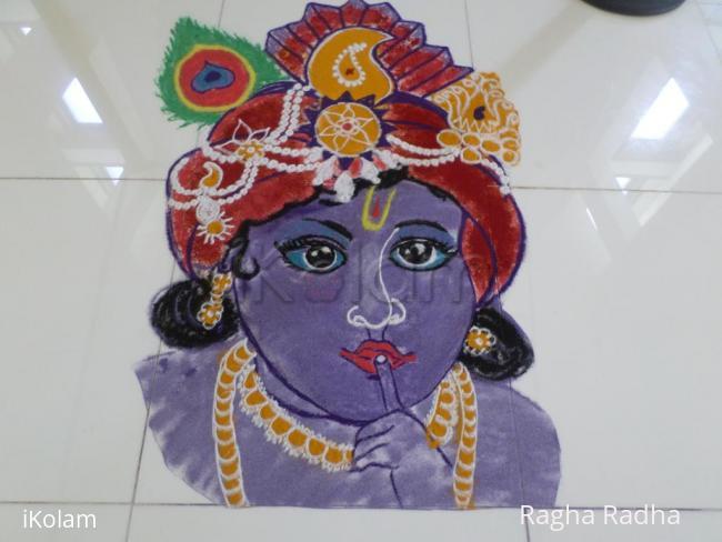 Rangoli: SRIKRISHNA ASHTAMI RANGOLI2017