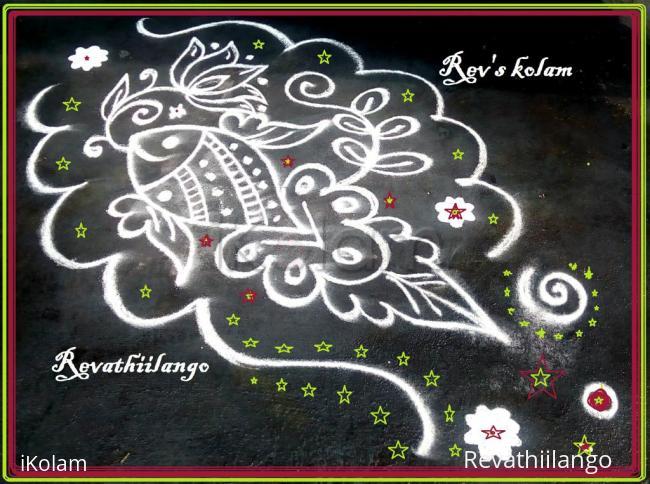 Rangoli: Rev's daily kolam 4.