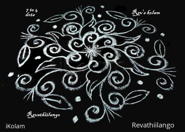 Rangoli: Rev's easy daily kolam.