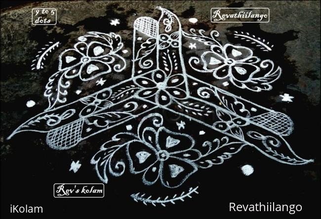 Rangoli: Rev's very new kolam.