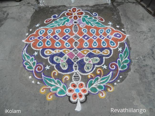Rangoli: Rev's on the spot Adi 18 butterffy chikku creation.