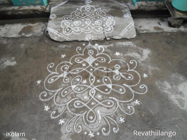 Rangoli: Rev's daily kolam new one.