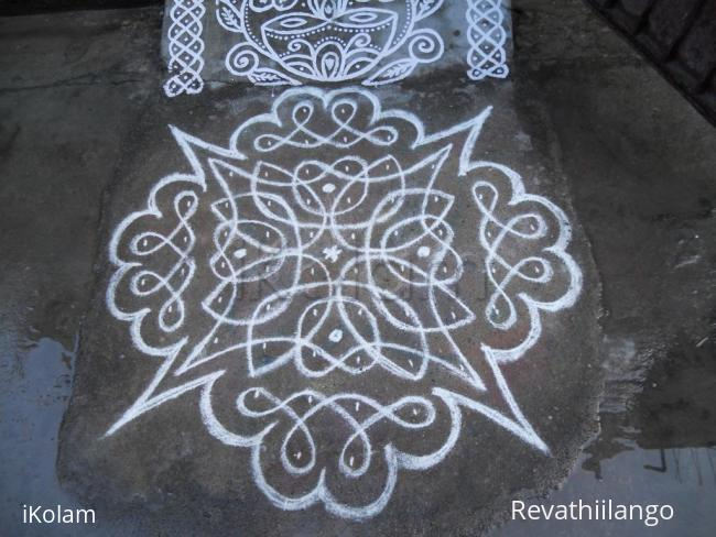 Rangoli: Rev's chikku kolam.