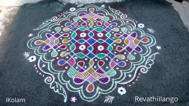 Rangoli: Rev's chikku kolam 9.