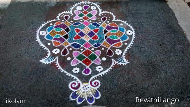 Rangoli: Rev's chikku kolam 15.
