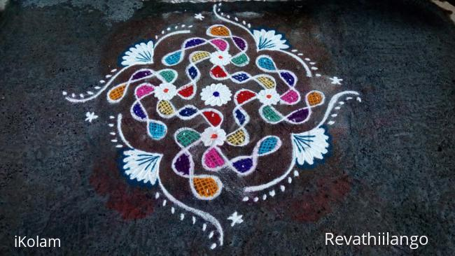 Rangoli: Rev's chikku kolam 16.