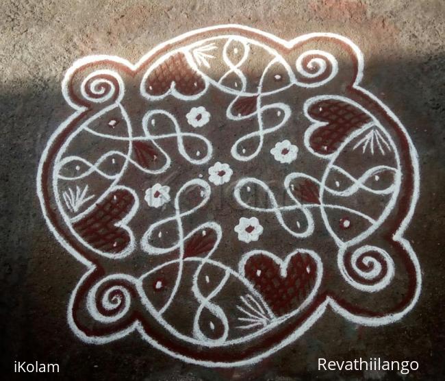 Rangoli: Rev's chikku kolam 48.
