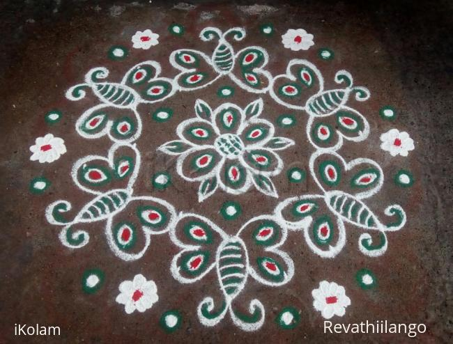 Rangoli: Rev's butterfly daily kolam.