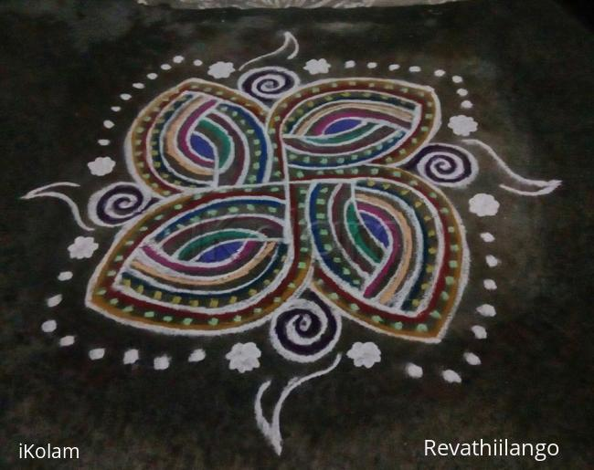 Rangoli: Rev's freehand new try.
