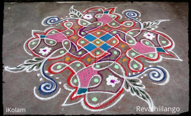 Rangoli: Rev's chikku kolam 72.