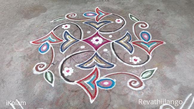 Rangoli: Rev's daily kolam 003.