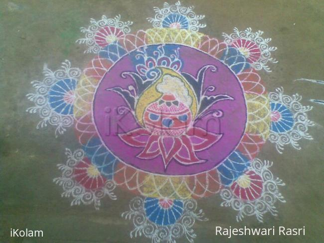 Rangoli: Pongal rangoli with beautiful design