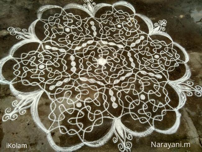 Rangoli: dew drops contest entry 2016-17