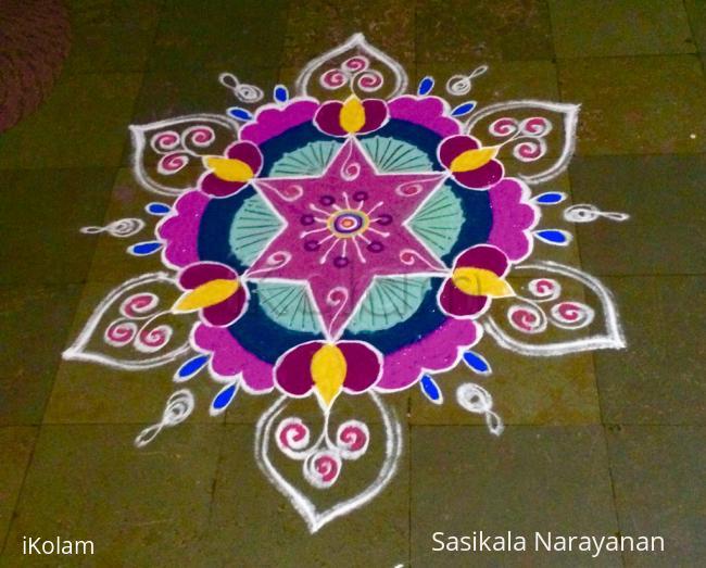 Rangoli: Vinayaka chaturthi kolam