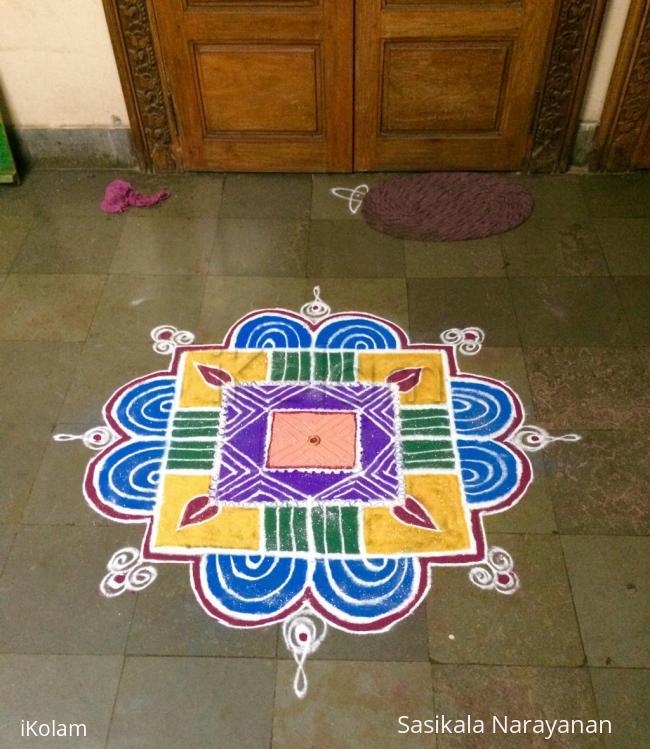 Rangoli: Kolam on varalakshmi pooja