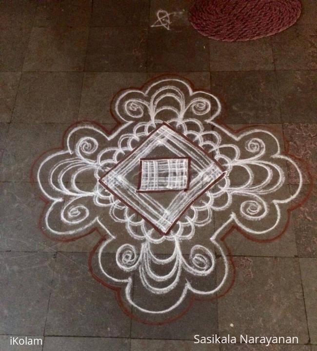 Rangoli: White n white