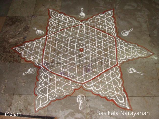 Rangoli: Natchathra Kolam